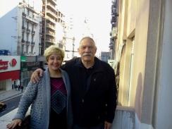 Jorge Denti y Cynthia Sabat