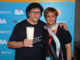 Raúl Perrone, Mejor Director en Bafici, junto a Cynthia Sabat