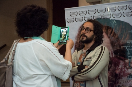 EL PUTO INOLVIDABLE - En el estreno junto a su director, Lucas Santa Ana (2017)